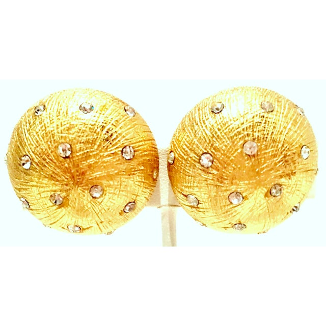 Late 20th Century 20th Century Christian Dior Gold Plate & Swarovski Crystal Earrings For Sale - Image 5 of 5