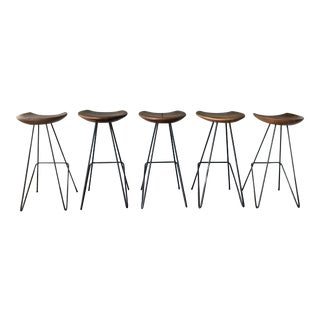 Anthropologie Perch Bar Stools - Set of 5 For Sale