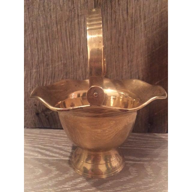 Vintage Brass Vase Bowl & Chamber Stick - Set of 3 - Image 4 of 9