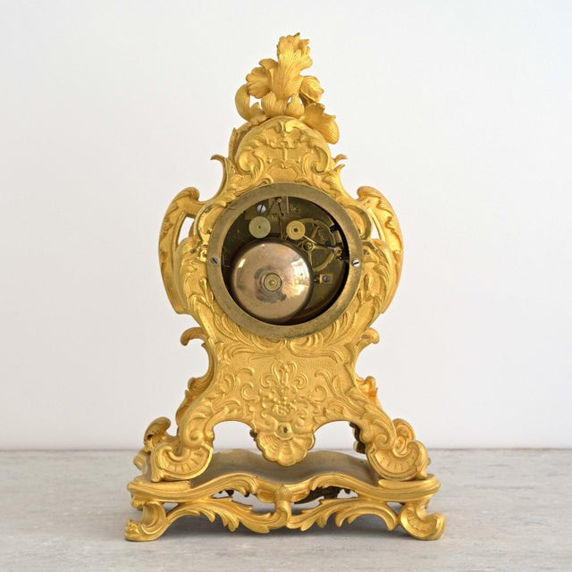 Early 19th Century French Louis XIV Style Ormolu Mantle Clock For Sale - Image 4 of 9
