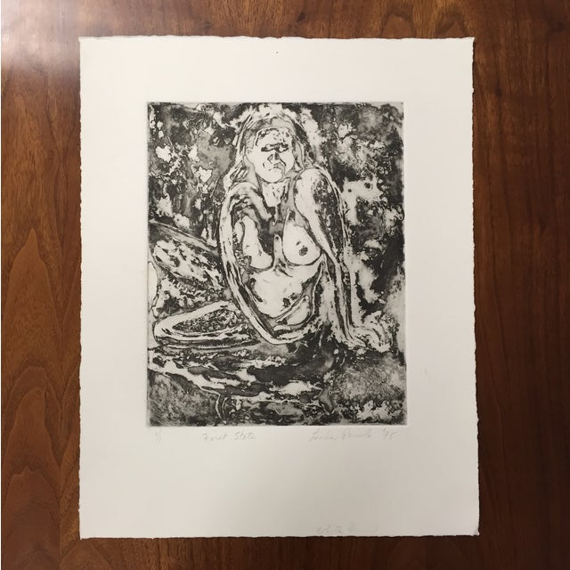 An impressionist block print by Linda Pericolo. Sold unframed.