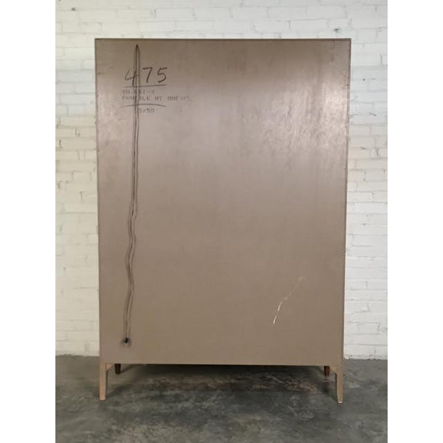 John Van Koert for Drexel Profile Mid-Century Walnut China & Display Cabinet - Image 8 of 8