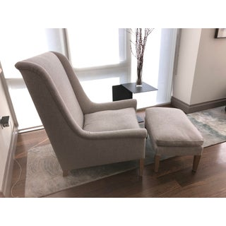 Custom Made Greige Chair and Ottoman Preview