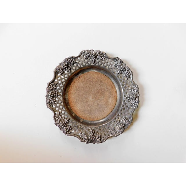 1980s Traditional Silver Wine Bottle Coaster For Sale - Image 5 of 6