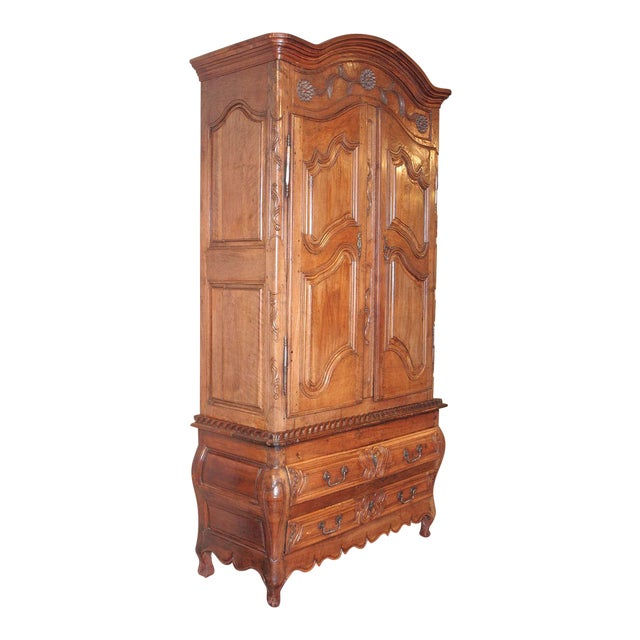 French Louis XV Walnut Armoire Pantalonniere - Image 1 of 10