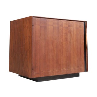 John Kapel for Glenn of California Walnut Bar Cabinet / Side Table For Sale