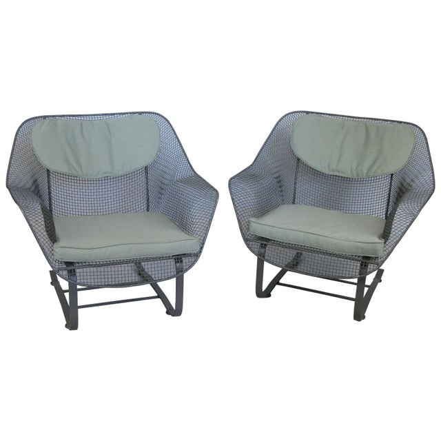 Pair of Russell Woodard 1950s Sculptura Lounge Chairs For Sale - Image 9 of 9