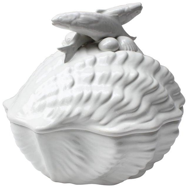 White Italian Shell Tureen For Sale - Image 8 of 8