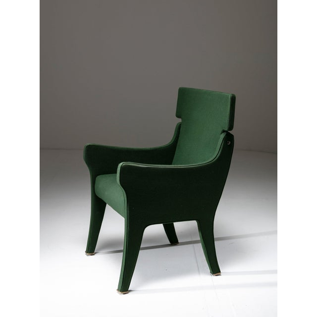 "Gold Armchair Model ""R63"" by Ignazio Gardella for Azucena For Sale - Image 8 of 8"