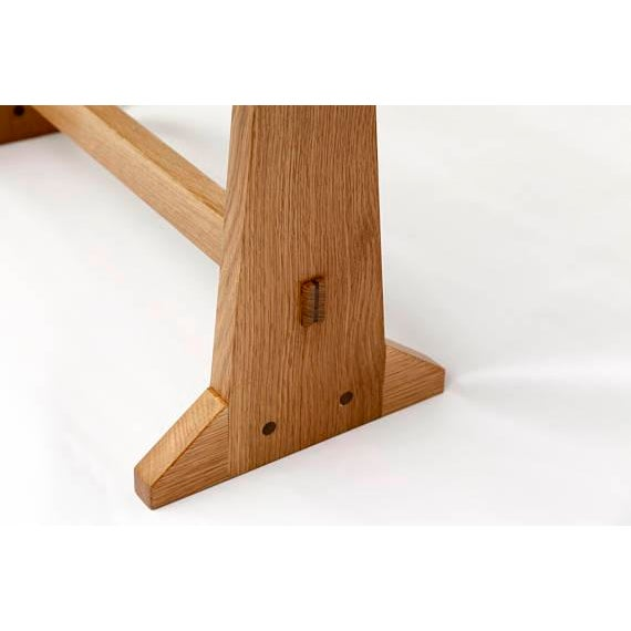 Japanese Style Trestle Table & Bench - A Pair - Image 10 of 11