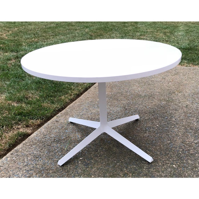 Metal Knoll Mid-Century Modern X Base Dining Table For Sale - Image 7 of 7
