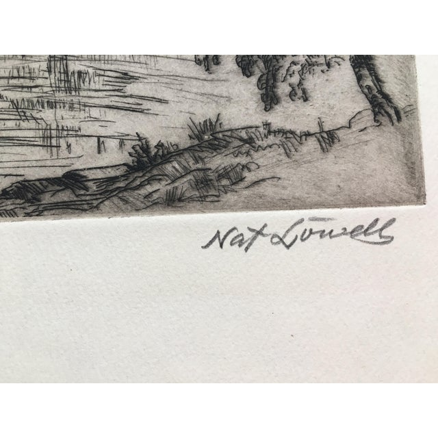 """1940's New York Etching """"Central Park"""" by Nat Lowell For Sale - Image 11 of 13"""