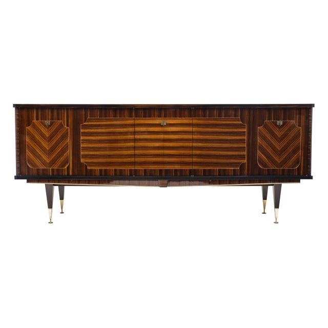 Macassar of Ebony French Vintage Buffet For Sale - Image 12 of 12