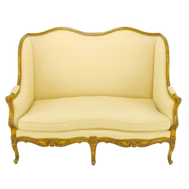 Yale Burge Louis XV Wingback Settee For Sale