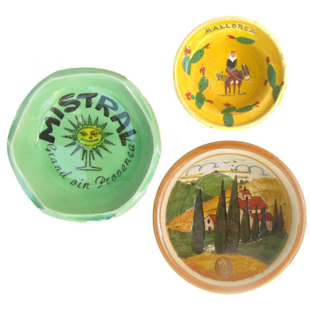 Green Southern European Souvenir Change Dishes / Ashtrays For Sale - Image 8 of 8