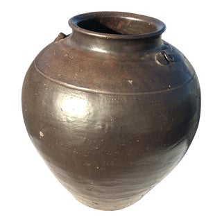 19th Century Blackened Earthenware Wine Vessel For Sale