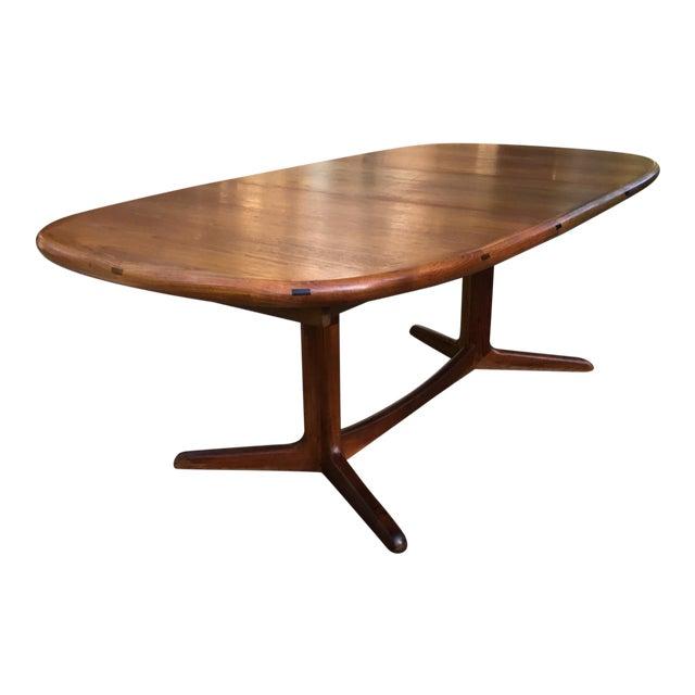 Danish Modern Solid Teak Extendable Dining Table Chairish - Solid teak dining table for sale