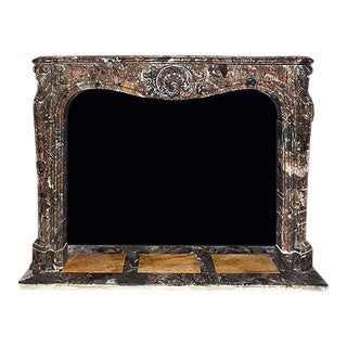 Mid 19th Century Louis XV Style Supren Marble Mantel For Sale