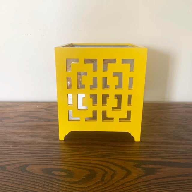 Worlds Away Worlds Away Libby Yellow Planter For Sale - Image 4 of 4