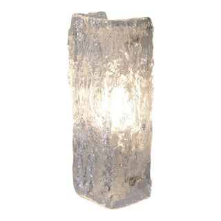 One of Six Ice Glass Sconces of Wall Lights by Kaiser Leuchten For Sale