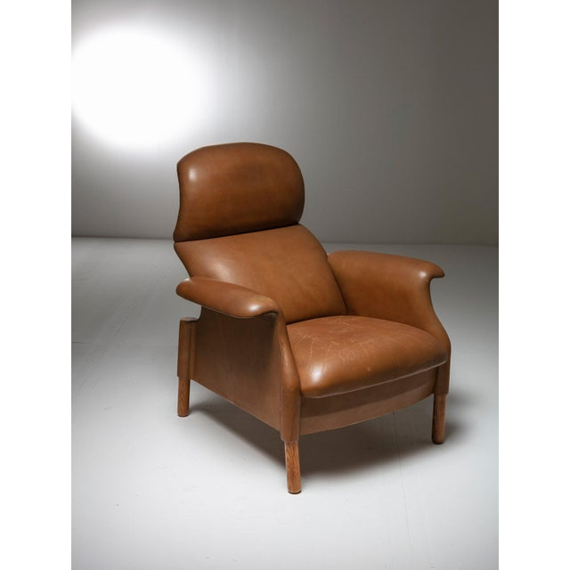 "1960s ""Sanluca"" Leather Lounge Chairs by Castiglioni for Gavina For Sale - Image 5 of 8"