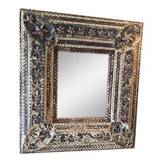 Nantucket Arts & Crafts Patriotic Framed Mirror For Sale