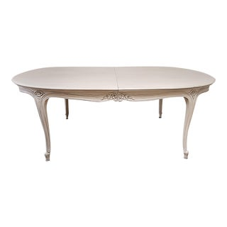 20th Century Louis XV Style Painted Dining Table With Leaves For Sale