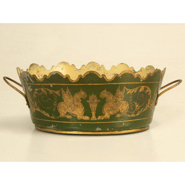French Tole Jardinière, Circa 1800s For Sale - Image 9 of 9