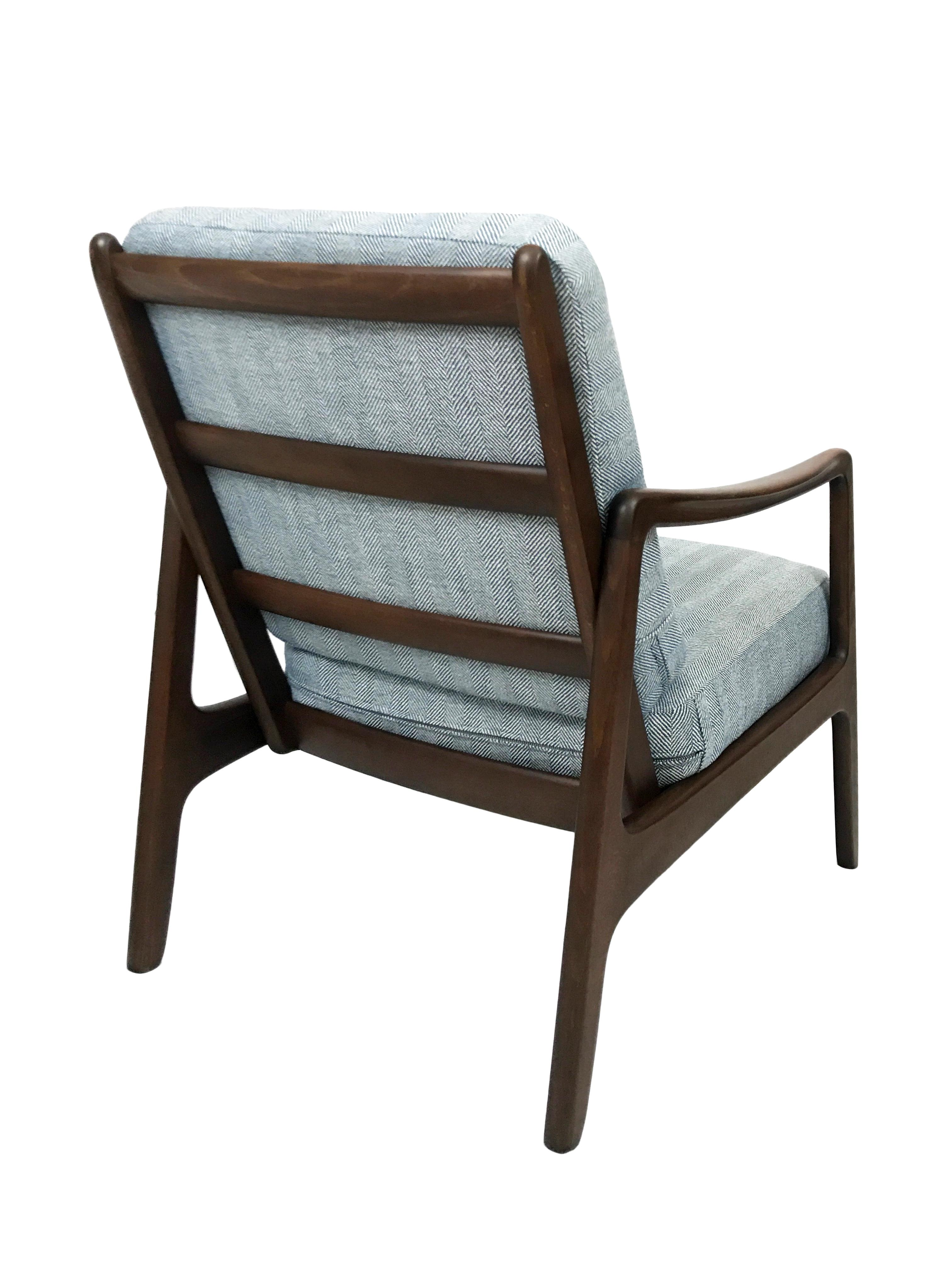 Perfect France U0026 Daverkosen Mid Century Herringbone Lounge Chair By Ole Wanscher  Model 109   Image 4