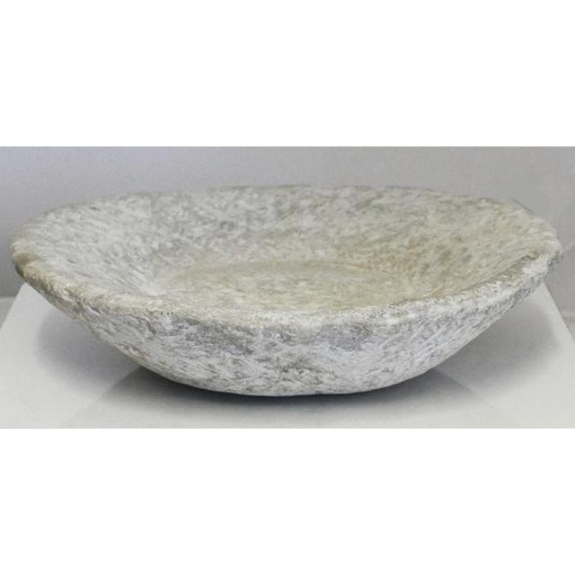 Hand-carved stone bowl. This is a perfect bowl for your dining room centerpiece. There are many things to fill it with.