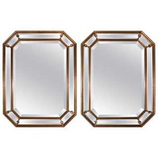 1950s Italian Gilt Octagonal Mirrors For Sale