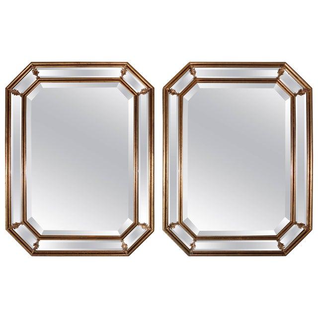 1950s Italian Gilt Octagonal Mirrors For Sale