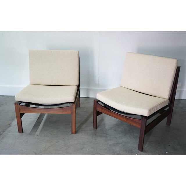 1960s Mid-Century Armless Lounge Chair, Sold as a Pair For Sale - Image 5 of 8