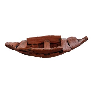 "Handcrafted Terracotta ""Journey Boat"" by Holden McCurry"