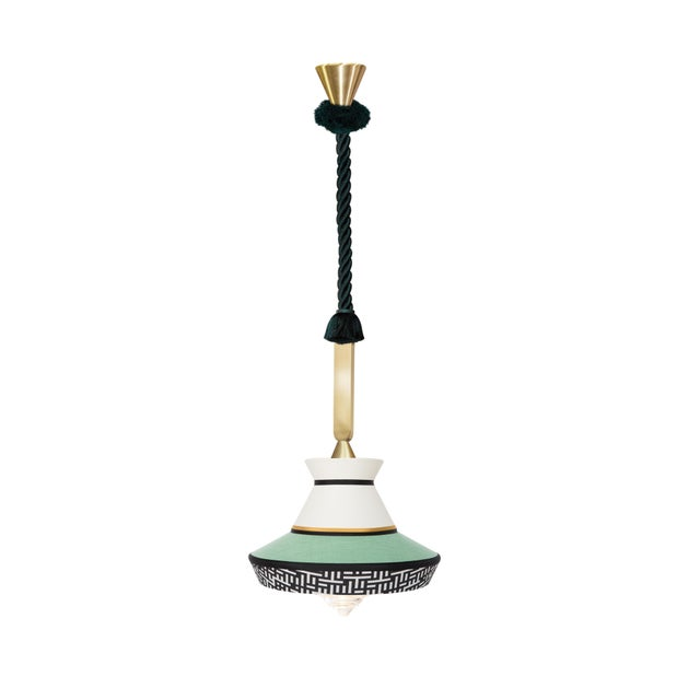 Contardi Lighting Contardi Calypso Guadalupe Outdoor Pendant Light in Moss Green and Mint For Sale - Image 4 of 4