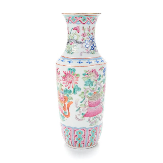 """Chinese 19th Century Porcelain 10"""" Vases - Pair - Image 4 of 9"""
