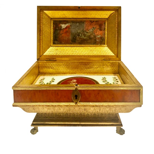 Neoclassical Early 19th Century Neoclassical Style Work Box For Sale - Image 3 of 9