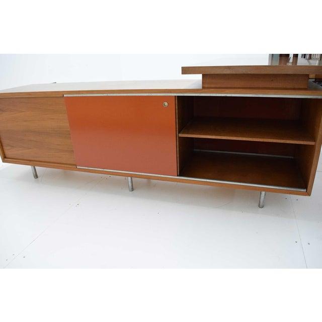 Danish Modern 1952 George Nelson for Herman Miller Executive Desk For Sale - Image 3 of 13