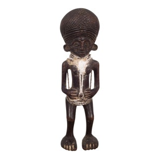 Carved African Chokwe Tribe Angolan Figure For Sale