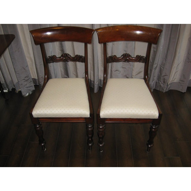 Regency Mahogany Side Chairs - A Pair - Image 4 of 4