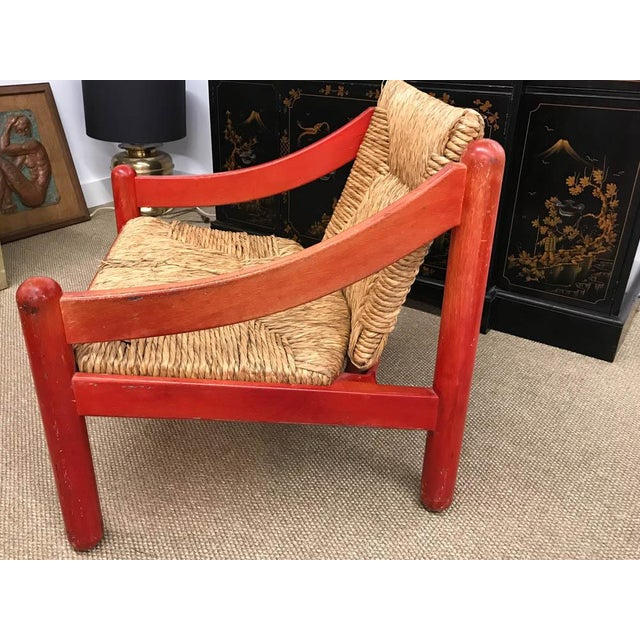 Mid Century Signed Cassina Italian Carimate Chair - Rush Seat - Image 2 of 8