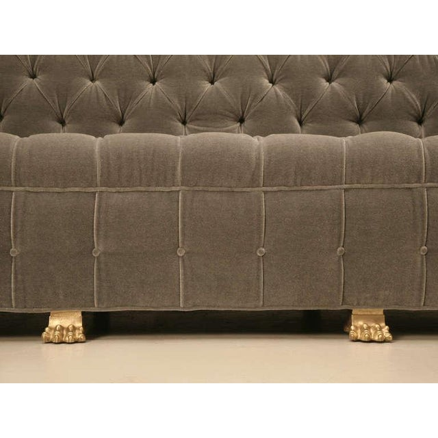 Bronze Chesterfield in Mohair with Solid Bronze Paw Feet For Sale - Image 7 of 10