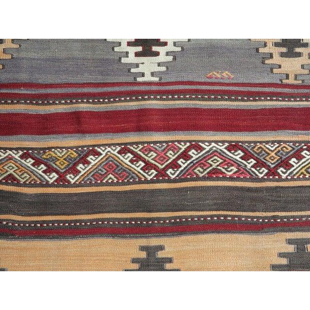 1960s Vintage Turkish Kilim Rug For Sale - Image 9 of 12