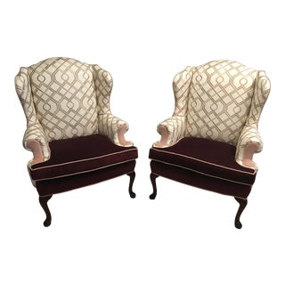Vintage Wing Back Chairs - a Pair