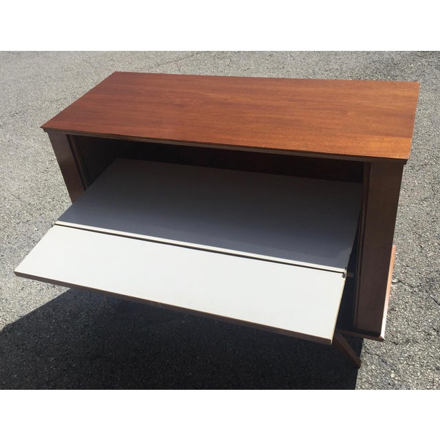 1960 Walnut Cabinet With Roll Doors/Work Station Desk For Sale In Miami - Image 6 of 10