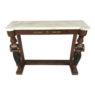 Circa 1880 Regency Greek Revival Console Table For Sale