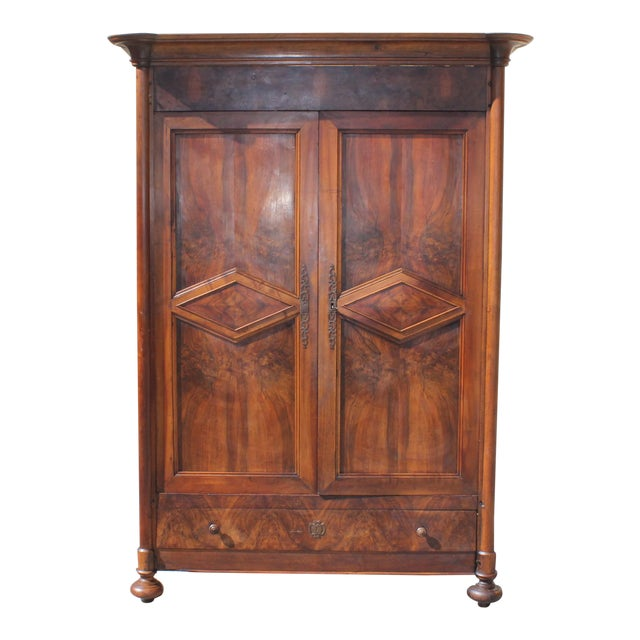19th Century French Louis Philippe Walnut Period Chateau Armoire circa 1850s - Image 1 of 11