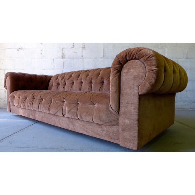 Mid Century Modern Tufted Chesterfield Sofa - Image 6 of 7