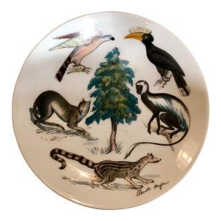 Vintage Claude Better Limoge Genesis Animal Beast Plate For Sale