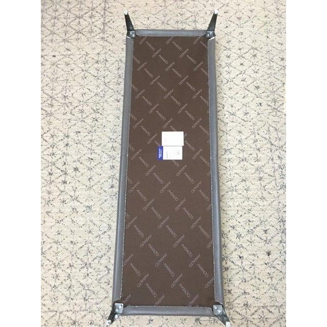 B & B Italia Italian Modern Leather Bench For Sale - Image 9 of 10